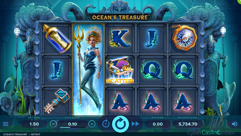 Ocean's Treasure Slot Gameplay