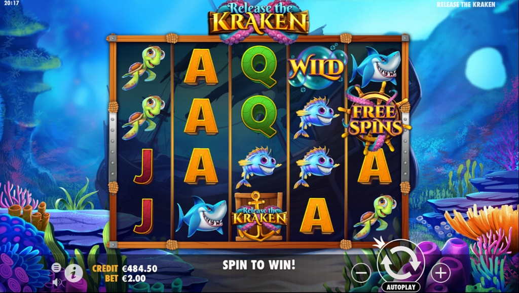 Release the Kraken Slot Gameplay