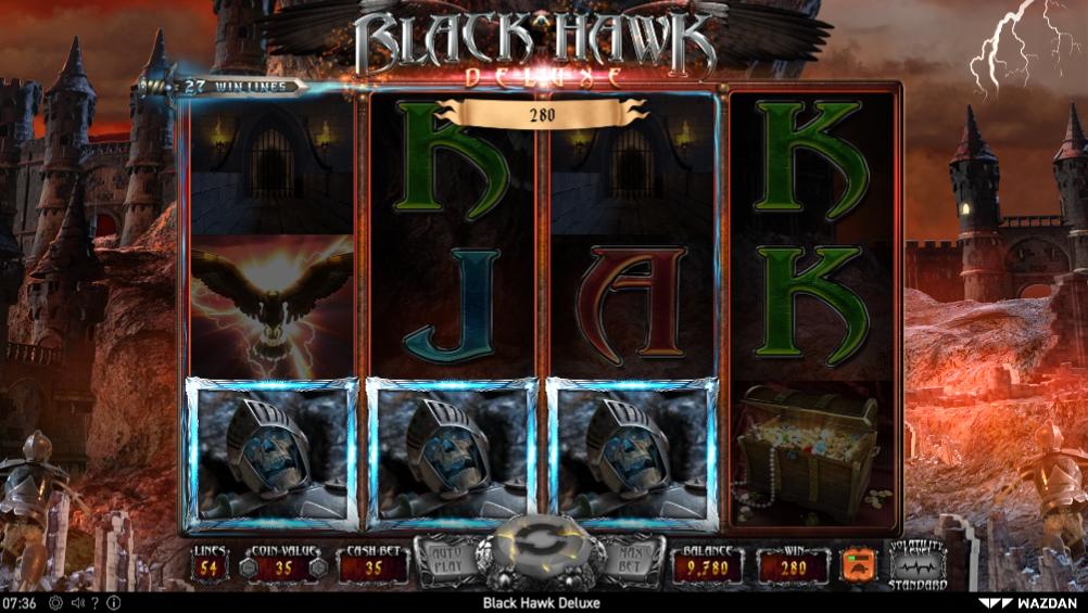 Black Hawk Deluxe slot gameplay