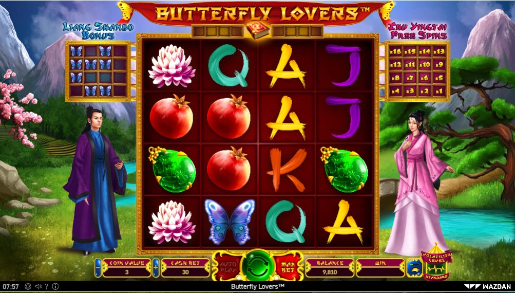 Butterfly Lovers slot gameplay
