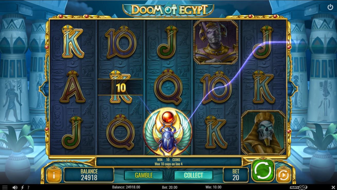 Doom of Egypt Slot Gameplay