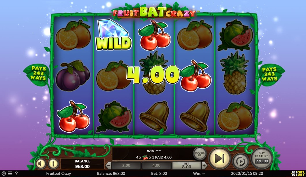 Fruit Bat Crazy Slot Gameplay