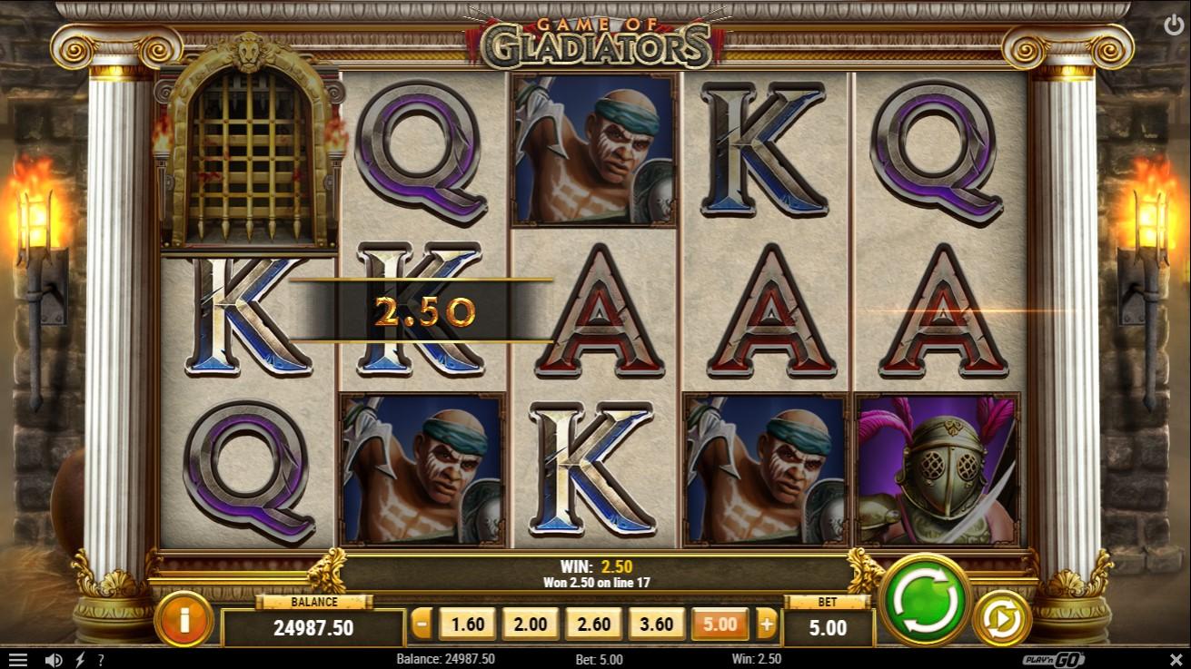 Game of Gladiators Slot Gameplay