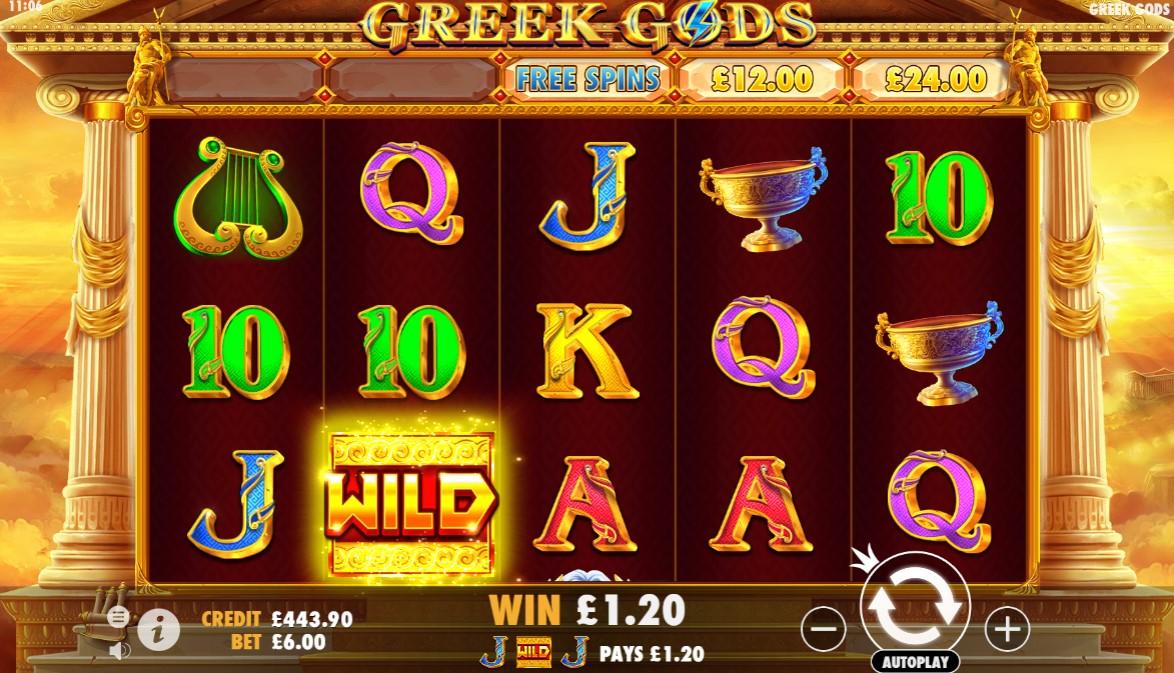 Greek Gods Slot Gameplay