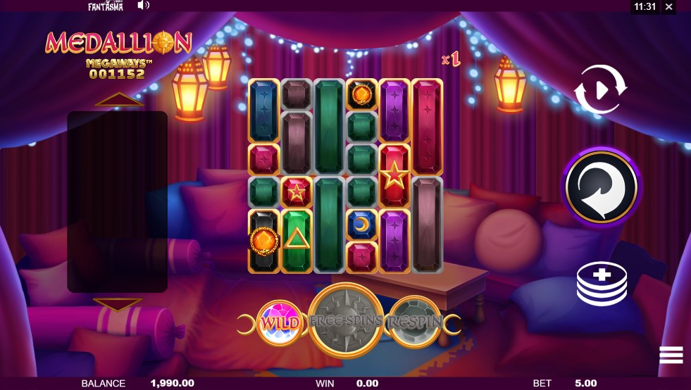Medallion Megaways Slot Gameplay