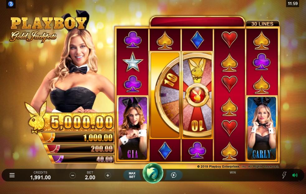 Playboy Gold Jackpots Slot Gameplay