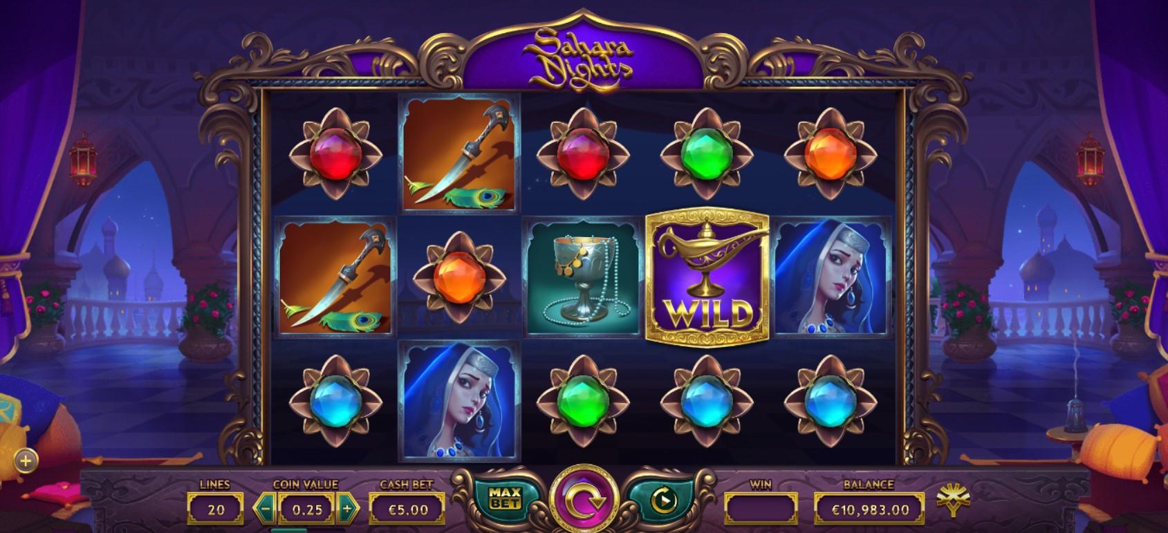 Sahara Nights Slot Gameplay