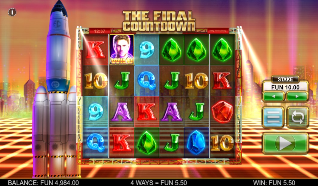 The Final Countdown Slot Gameplay