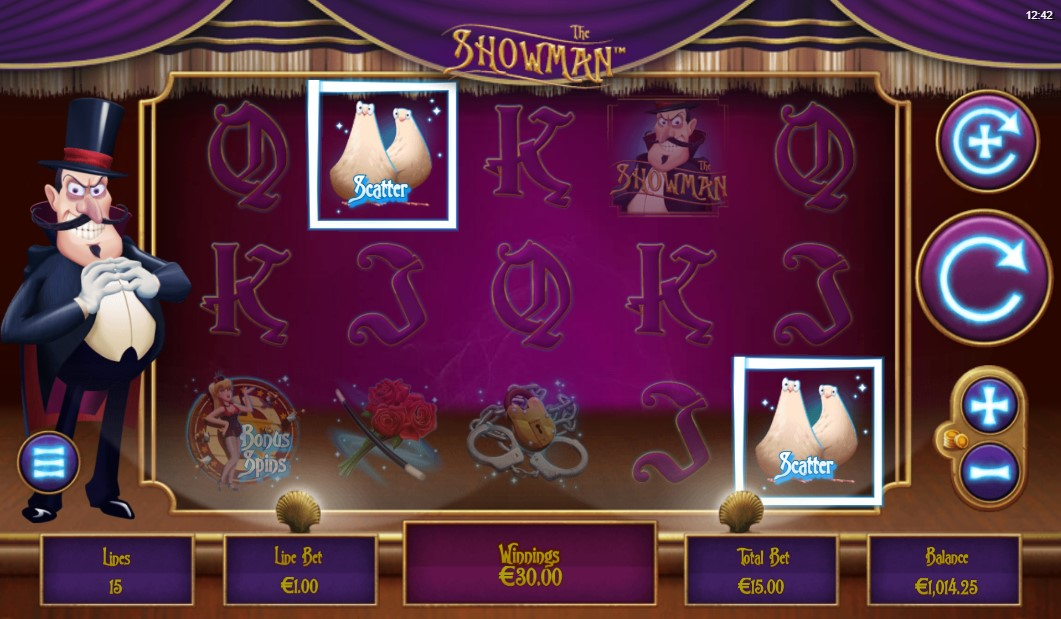 The Showman Slot Gameplay