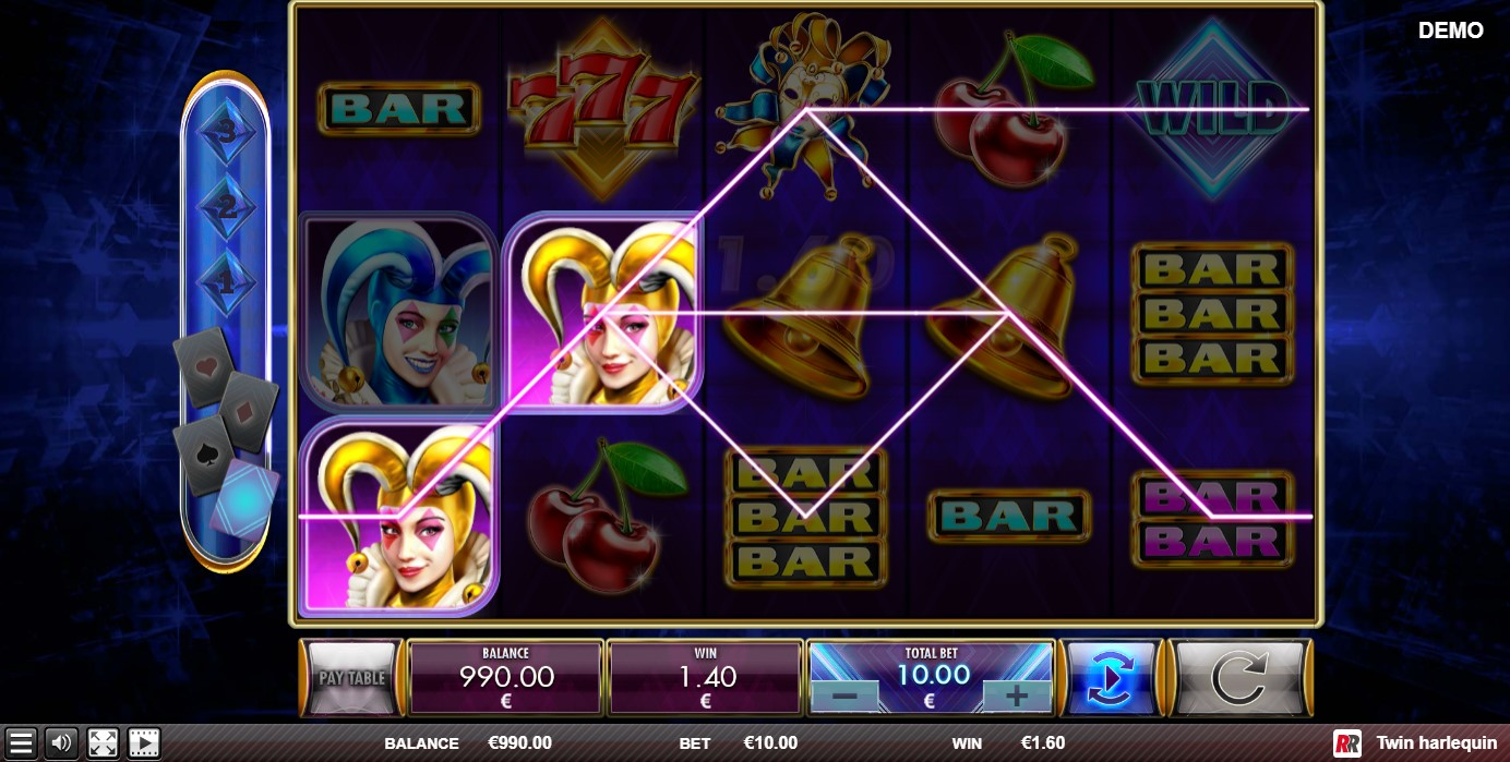 Twin Harlequin Slot Gameplay