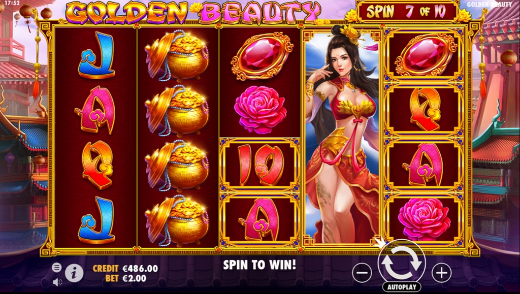 Golden Beauty Slot Gameplay