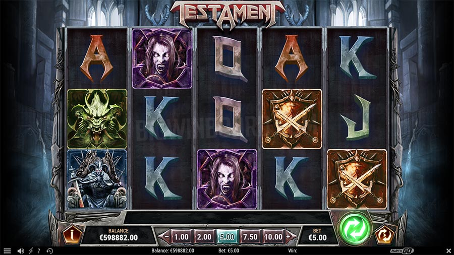 Testament Slot Gameplay