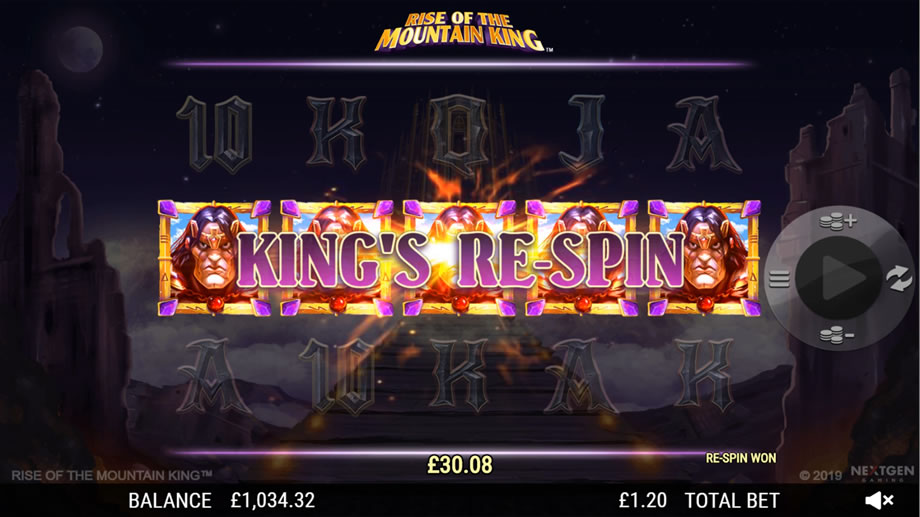 Rise of the Mountain King Slot Gameplay