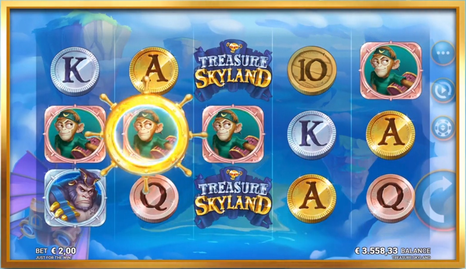 Treasure Skyland Slot Gameplay