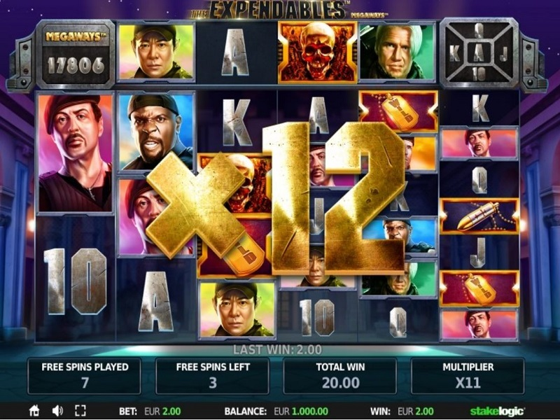 The Expendables Megaways Slot Gameplay