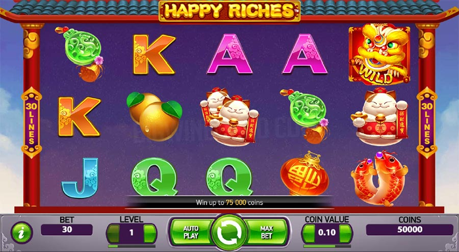 Happy riches Slot Gameplay
