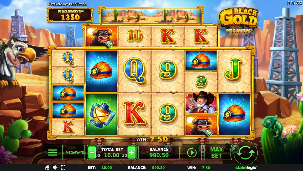 Black Gold Megaways Slot Gameplay