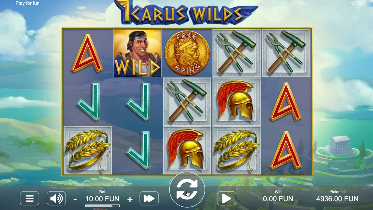 Ikarus Wilds Slot Gameplay