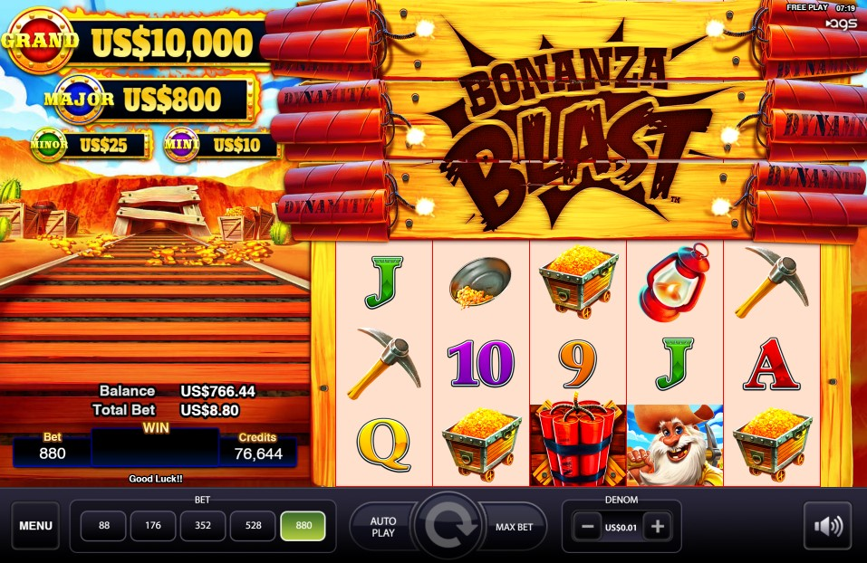 Bonanza Blast Slot Gameplay