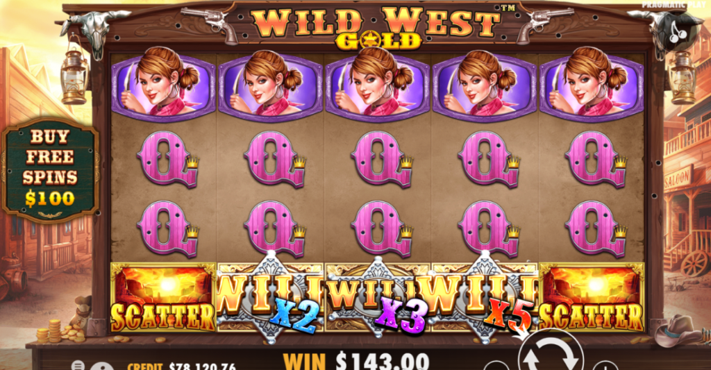 Wild West Gold Slot Gamepaly