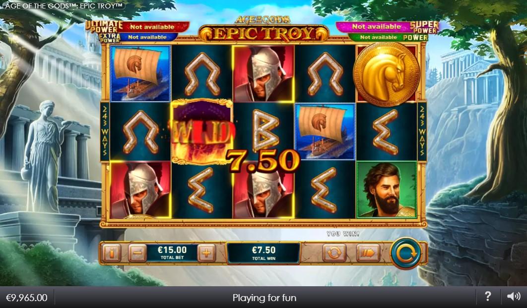 Age of Gods: Epic Troy Slot Gameplay