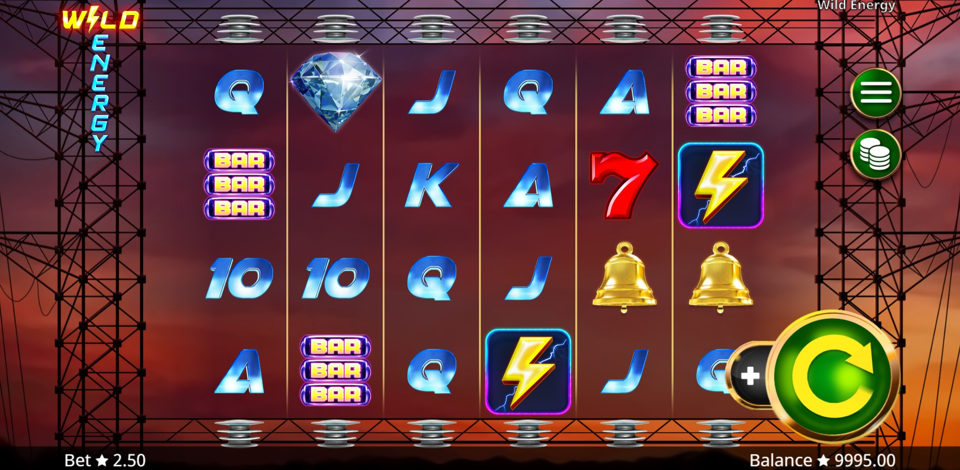 Wild Energy Slot Gameplay