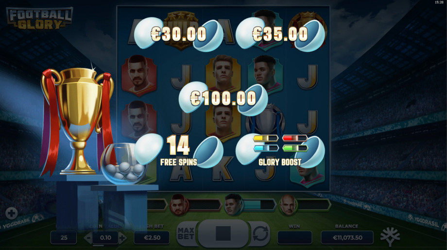 Football Glory Slot Gameplay