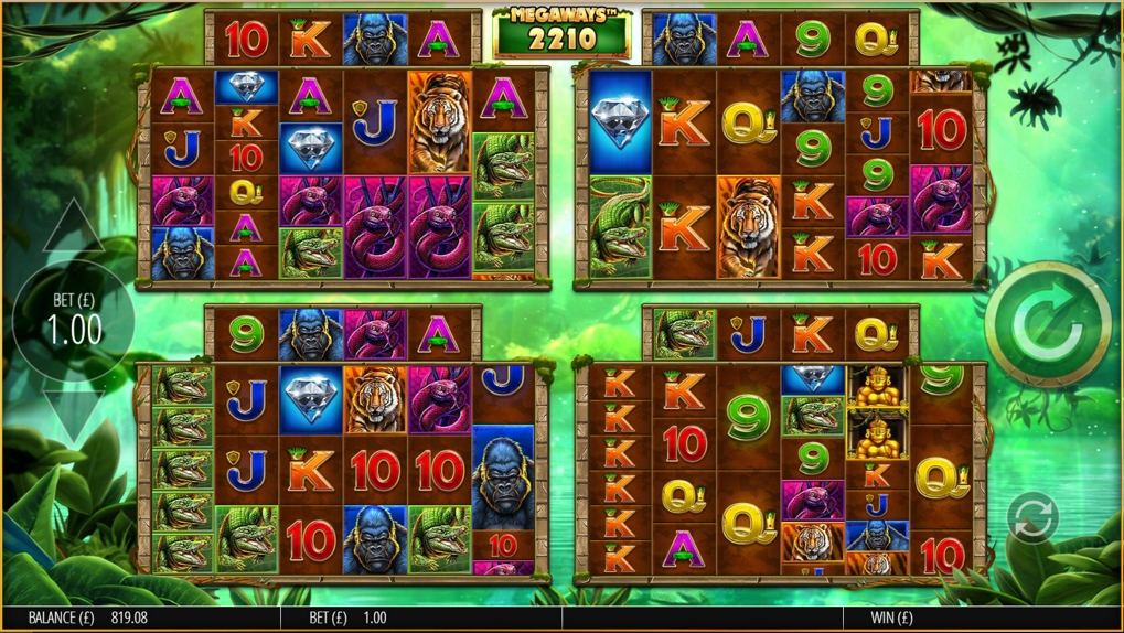 Gorilla Gold Megaways Slot Gameplay
