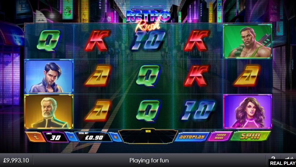 Retro Rush Slot Gameplay