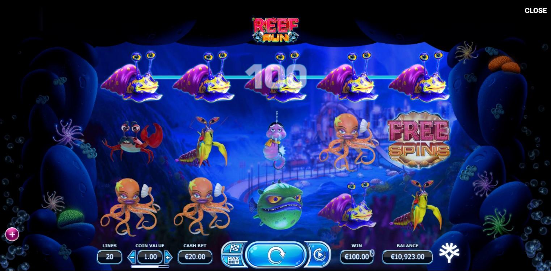 Reef Run Slot Gameplay