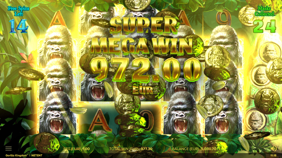 Gorilla Kingdom Slot Gameplay