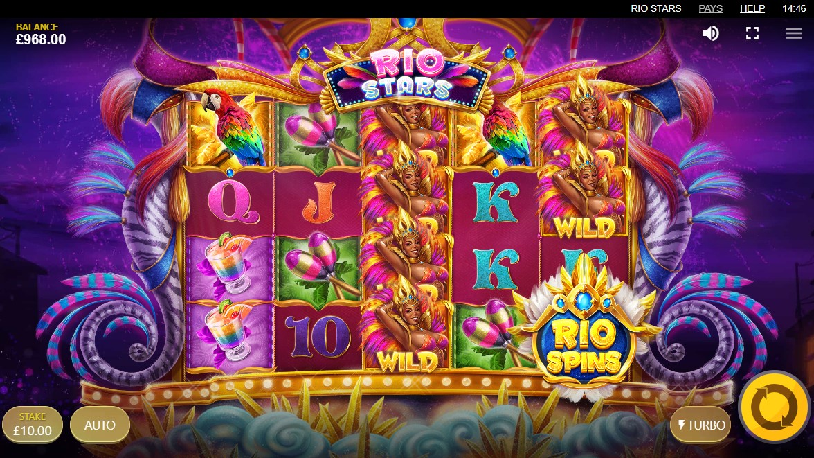 Rio Stars Video Slot Gameplay
