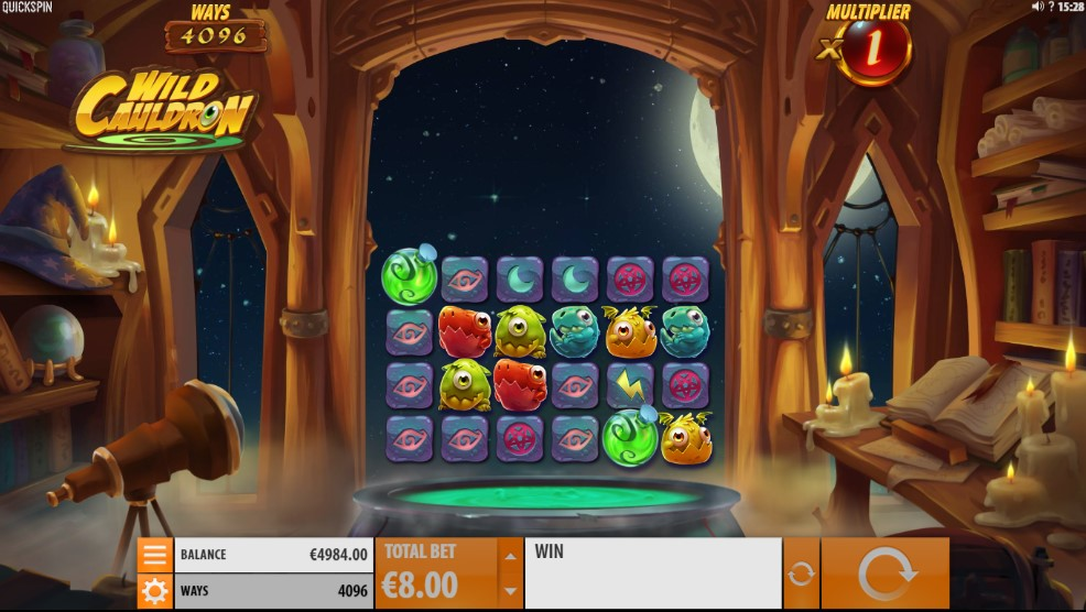 Wild Cauldron Video Slot Gameplay