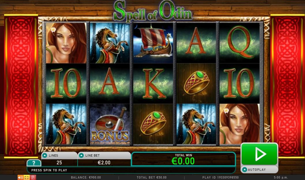 Spell of Odin Slot Gameplay