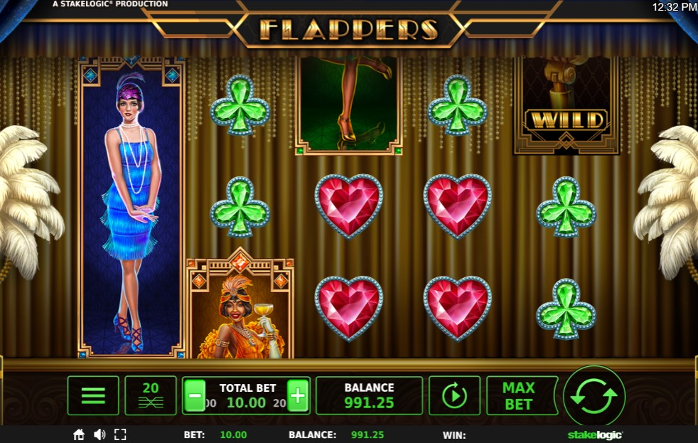 Flappers Slot Gameplay