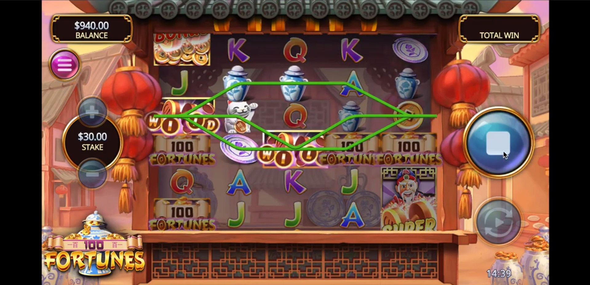 100 Fortunes Slot Gmeplay
