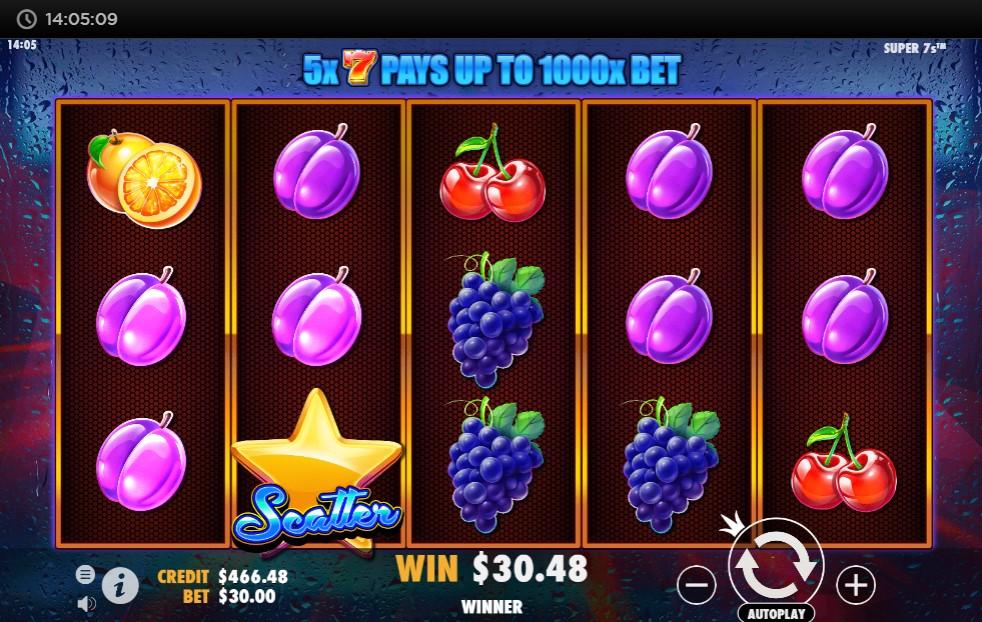 Super 7s Slot Gameplay