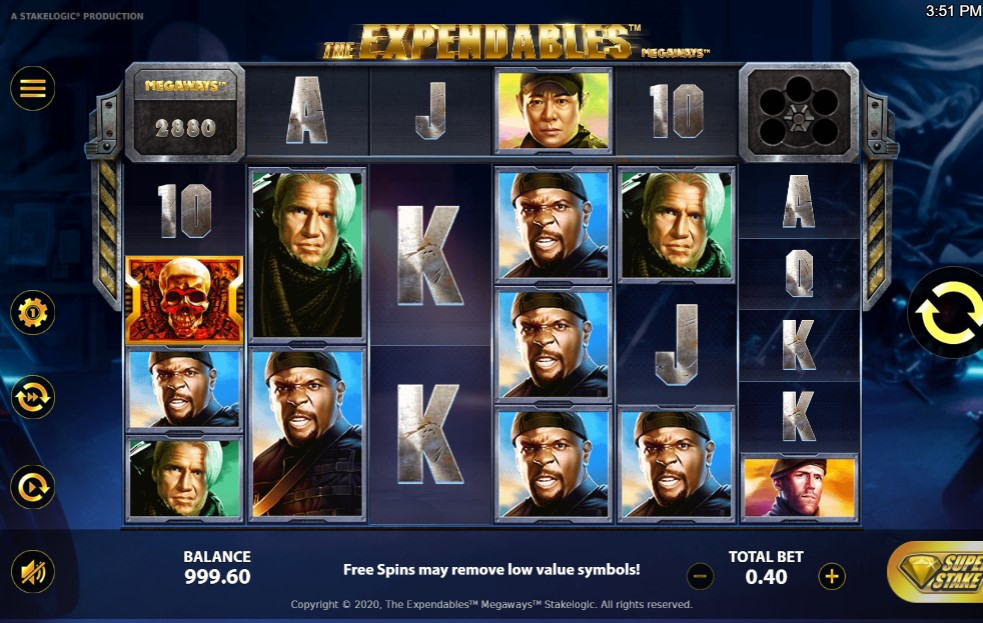 The Expendables Slot Gameplay