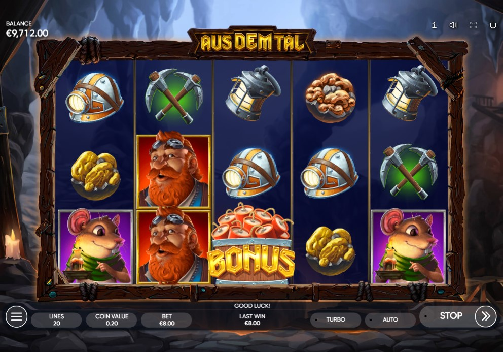 Aus Dem Tal Slot Gameplay