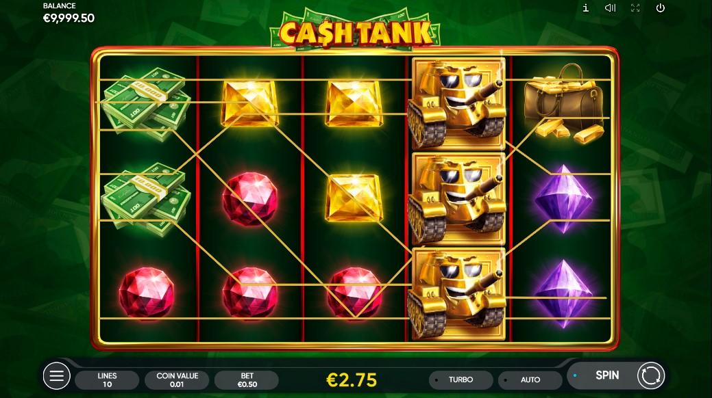 Cash Tank Slot Gameplay