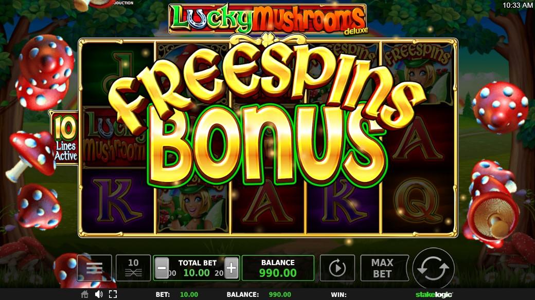 Lucky Mushrooms Slot Gameplay