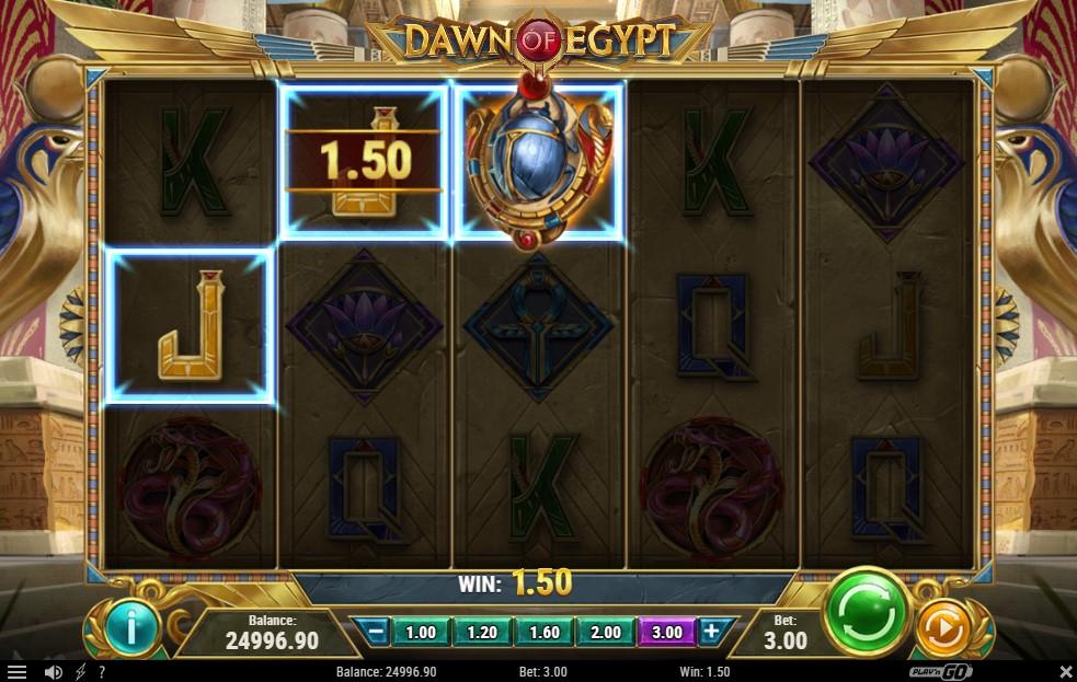 Dawn of Egypt Slot Gameplay