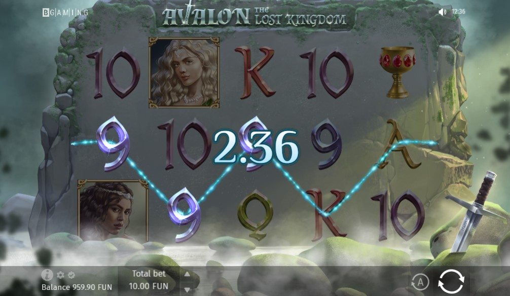 Avalon the Lost Kingdom Slot Gameplay