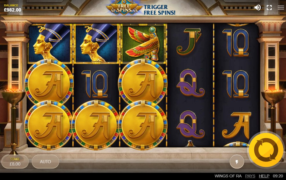 Wings of Ra Slot Gameplay