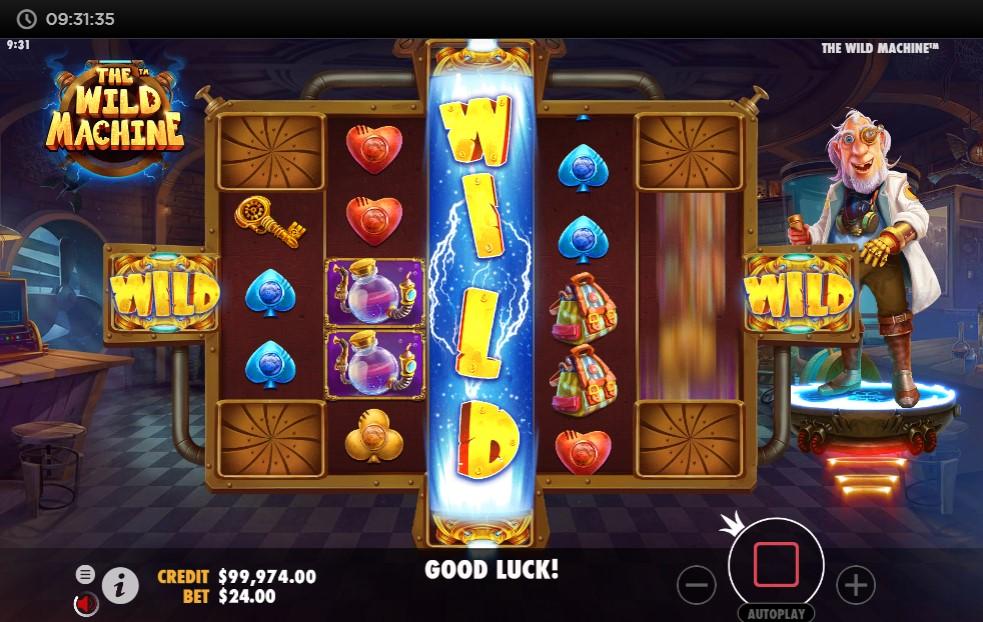 The Wild Machine Slot Gameplay