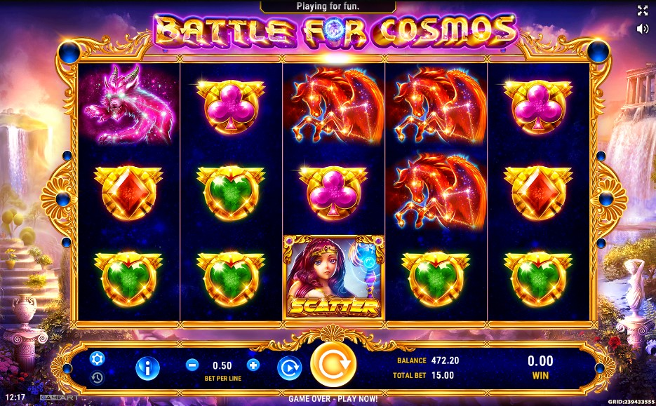 Battle for Cosmos Slot Gameplay