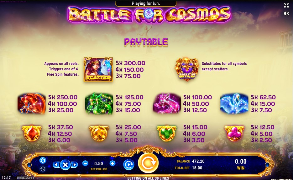Spiele Battle For Cosmos - Video Slots Online
