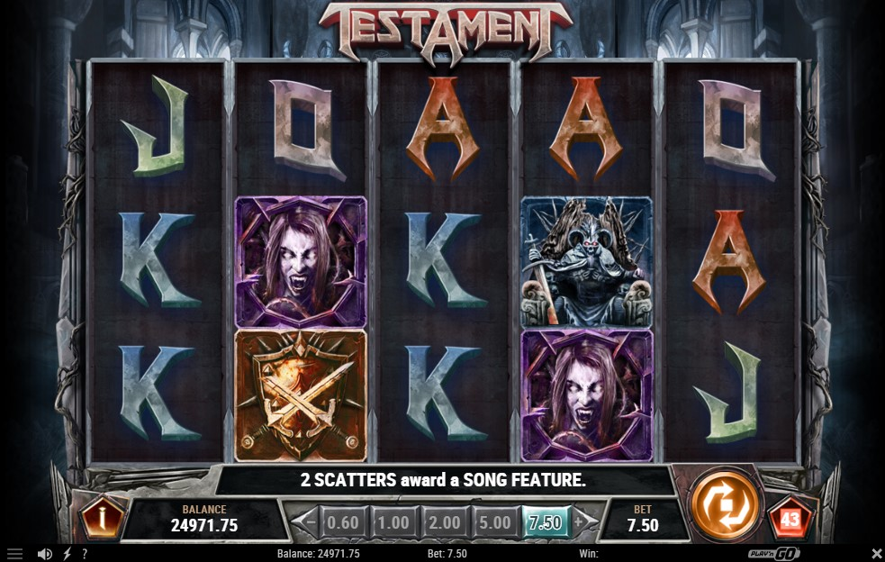 Testament Slot Gameplay