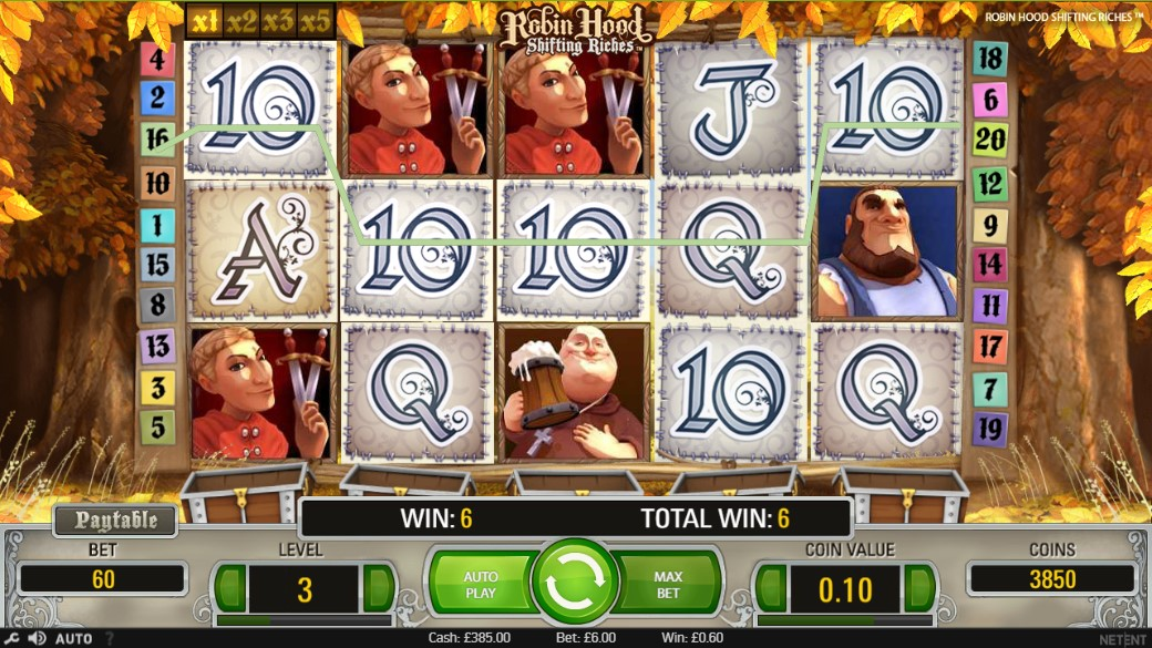 Robin Hood Shifting Riches Slot Gameplay