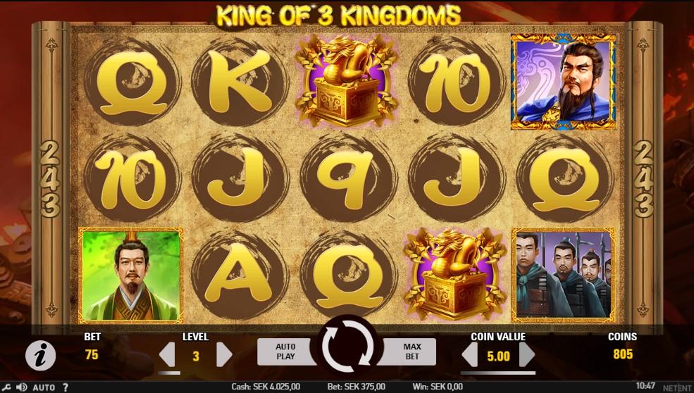 King of 3 Kingdoms Slot Gameplay